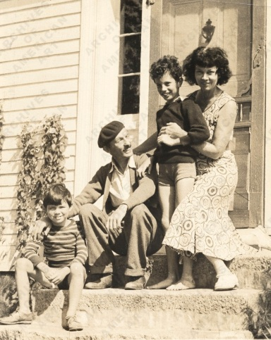 Kimon Nicolaides with Ann, Gifford, and Philip in New Hampshire, from the Mamie Harmon papers relating to Kimon Nicolaides - Image Gallery | Archives of American Art, Smithsonian Institution