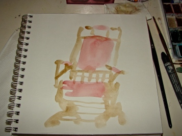 W14 7 10 WASH AND INK SPIES CHAIR 1