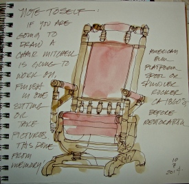 W14 7 10 WASH AND INK SPIES CHAIR 2