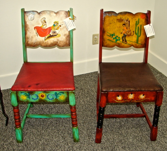 W11 PAINTED BURRO CHAIR 11