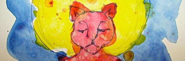 W15 2 8 ZAZEN CAT RED BANNER