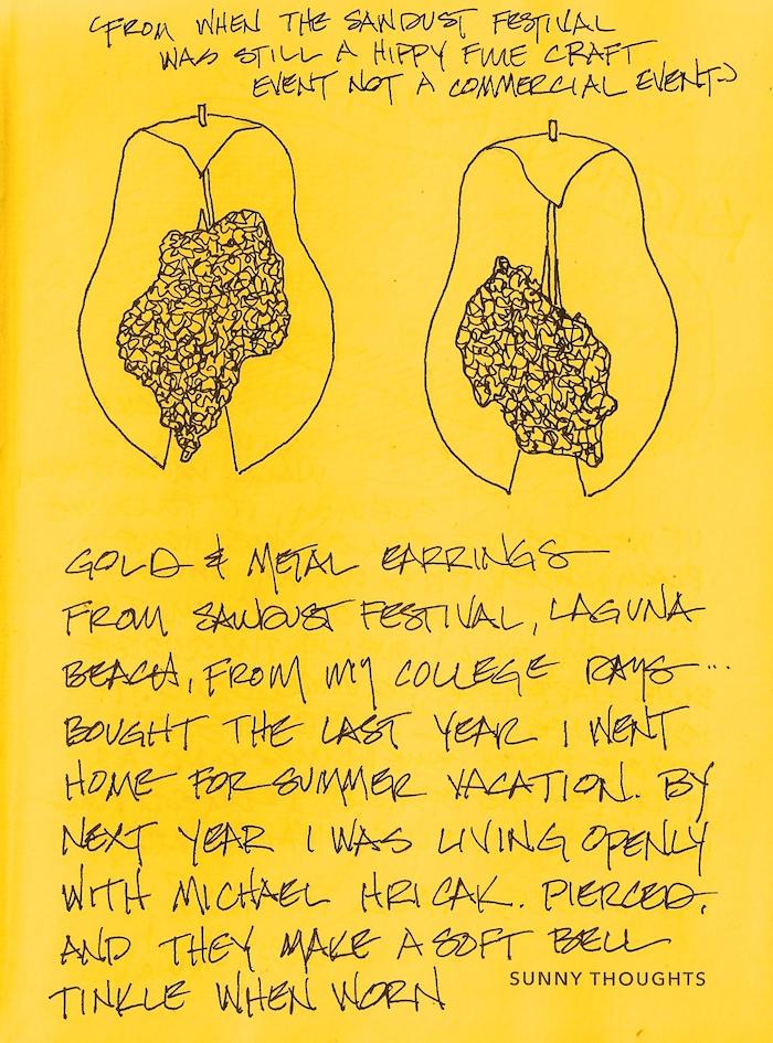 Bright Ideas Inktober 9 Sawdust Festival Earrings D Katie Powell Art