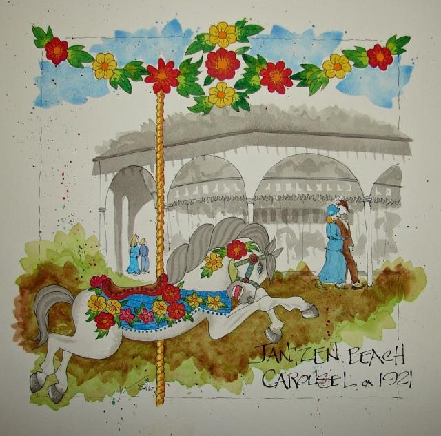 W16 8 RO Jantzen Carousel Floral 044