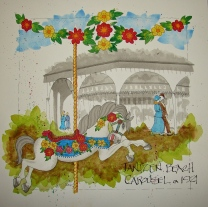 W16 8 RO Jantzen Carousel Floral 049