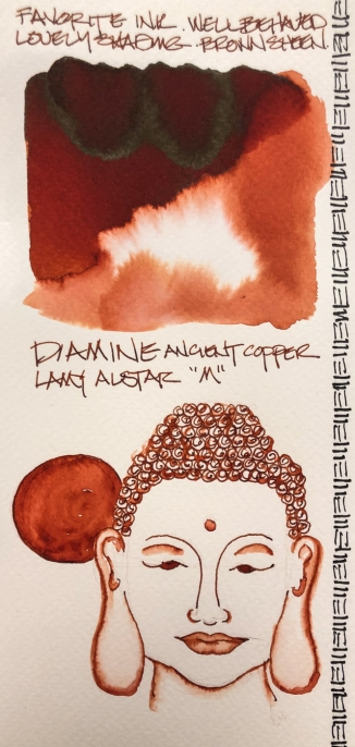 W19 INK DIAMINE ANCIENT COPPER-4496
