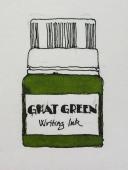 W19 6 20 NOST KRISHNA GHAT GREEN INK-5709