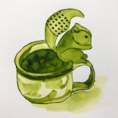 W19 6 23 NOST KRISHNA SQUIRREL TEACUP SQ-6070