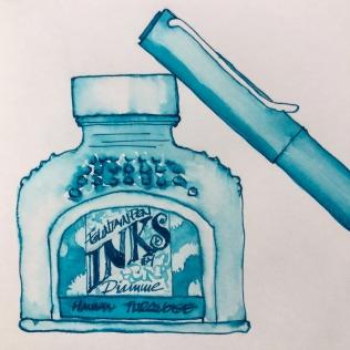 W19 6 8 NOST DIAMINE HAVASU TURQUOISE INK-4980 SQ