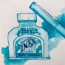 W19 6 8 NOST DIAMINE HAVASU TURQUOISE INK-5139 SQ