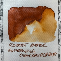 W20 4 ROBERT OSTER GLISTENING ORANGE RUMBLE INK-7637