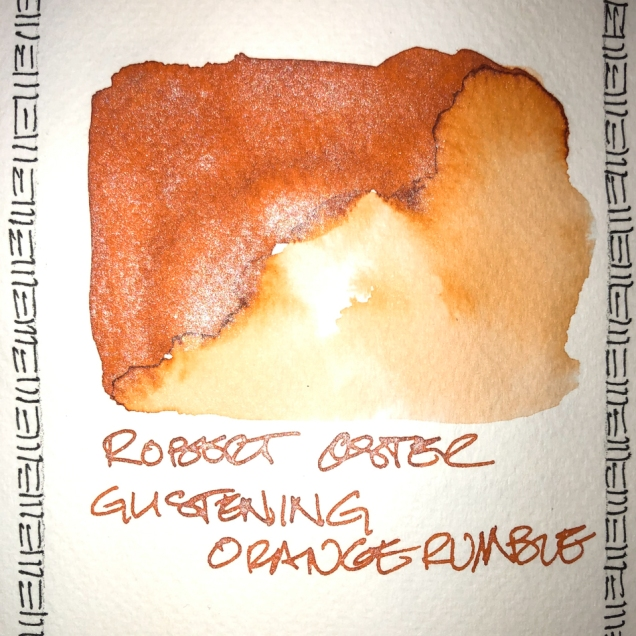 W20 4 ROBERT OSTER GLISTENING ORANGE RUMBLE INK-7638