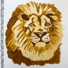 W20 7 ROBERT OSTER AFRICAN GOLD INK-1365 SQ