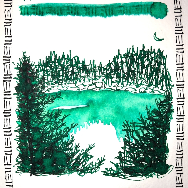 W20 7 ROBERT OSTER EMERALD INK-1329 SQ