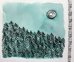 W20 7 ROBERT OSTER GREEN AT NIGHT INK-1319