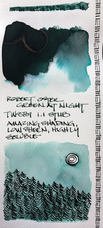 W20 7 ROBERT OSTER GREEN AT NIGHT INK-1320