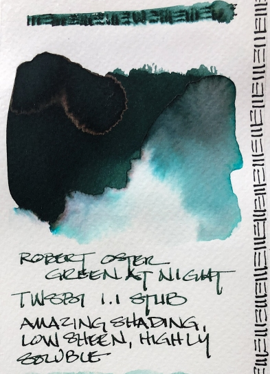W20 7 ROBERT OSTER GREEN AT NIGHT INK-1322