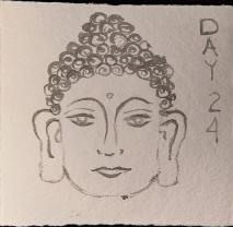 Buddha sculpture head.