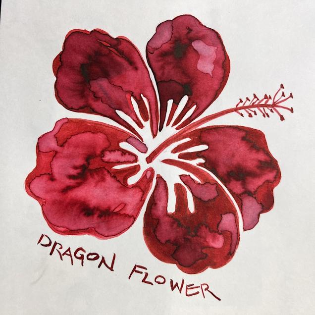 W21 10 INK ROBERT OSTER MUDDY DRAGON FLOWER-3410